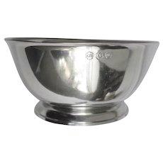 """Pewter Footed Bowl 8"""" diameter John Somers"""