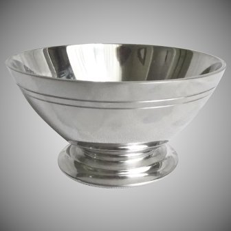 "Pewter Footed Bowl 3.5"" diameter John Somers Collection, Brazil"