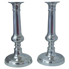 Pewter Candlesticks, John Somers Collection, Brazil