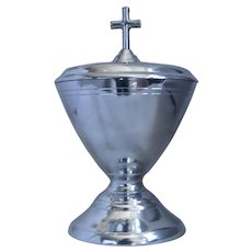"""Pewter Ciborium with cross 8"""" tall, John Somers Collection, Brazil"""