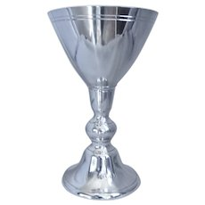 """Pewter Chalice 8"""" tall, John Somers Collection, Brazil"""