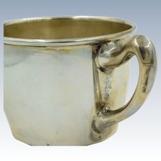 Vintage Sterling Silver Cartier Baby Cup With Handle 2308 .925 Mug
