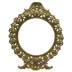Cast Iron Ornate Round Gold Frame by JM Iron Art