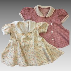 Vintage Homemade 1940's Baby Toddler Dresses