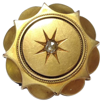 Pinchbeck Mourning Brooch.