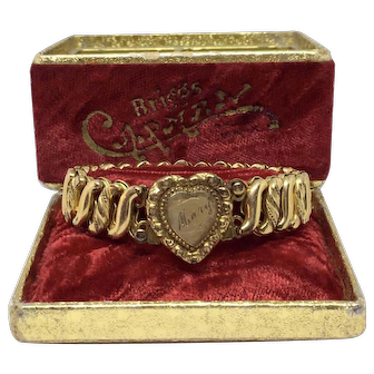 D.F. Briggs Carmen Sweetheart Expansion Bracelet Monogrammed Mary