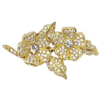Joan Rivers Floral Duette Earring Pin Convertible Set