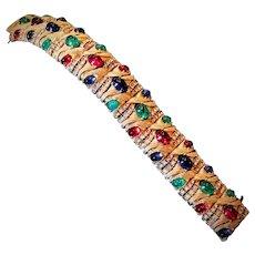Vintage Ciner Jewels of India Bracelet Moghul