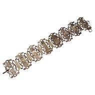 Vintage Art Deco Paris Souvenir Panel Bracelet