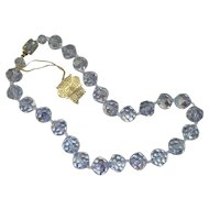 """Blue AB crystal Necklace """"Grand Duchess"""" by H&S Originals"""