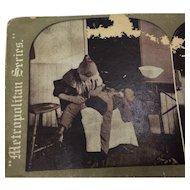 Stereograph Photo woman child Metropolitan Series