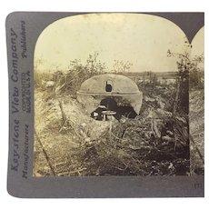 Stereograph Photo WW1 German Cupola History Keystone Stereoview