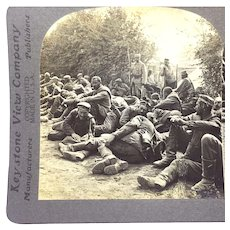 Stereograph Photo WW1 German POW Prisoners of War History Keystone Stereoview