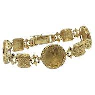 American Eagle $5 22k Gold Coin Bracelet 3 coins 14k Five dollar