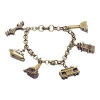 Vintage Coro Charm Bracelet San Francisco souvenir