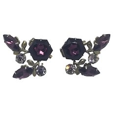 Small Collar Pins Purple Mirror Image Matching Set Aubergine Lingerie