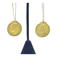 1911 Bronze Medal Italian Touring Club Earrings Federico Johnson