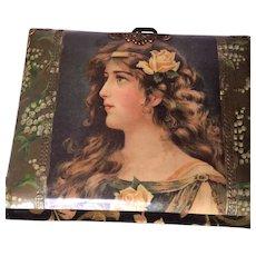 Antique Victorian Celluloid Photo Album With photos