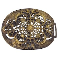 Antique Ornate Victorian Brass Buckle