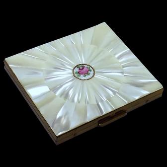 Vintage Mother of Pearl Cigarette Case by Schildkraut Guilloche