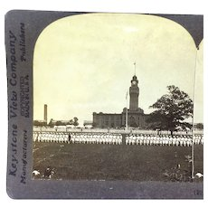 Stereograph Great Lakes Naval Training Station Illinois NAVSTA WWI Photo