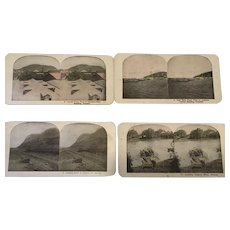 Stereograph set of Panama Canal Culabra Cut Ancon Cristobal