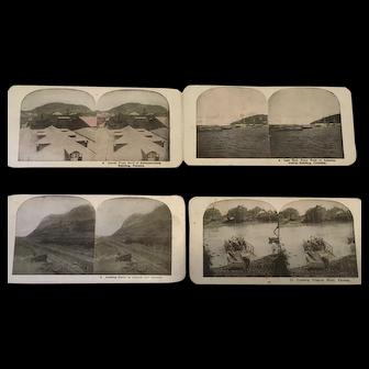Stereograph set of Panama Canal Culabra Cut Ancon Cristobal