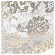 2 Vintage Lace Placemats Roses Alencon France White