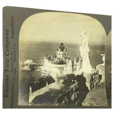 Stereoview San Francisco Cliff House Seal Rocks California Sutro Gardens Post-earthquake Stereograph