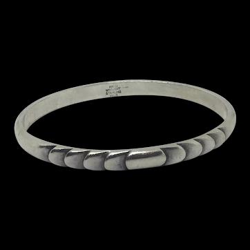 Sterling Bracelet Signed Kalo Hand-wrought Silver Bangle