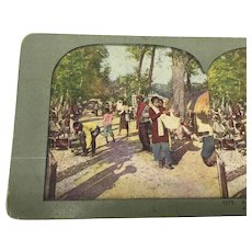 Antique Stereoview Island of Java Stereograph Native Village