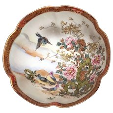 Antique Noritake Bowl Morimura Bros Birds & Flowers