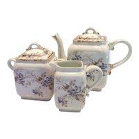 Ch. Field Haviland Limoges Tea Set Floral Charles 19th Century