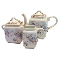 Ch. Field Haviland Limoges Tea Set Floral Charles 19th Century