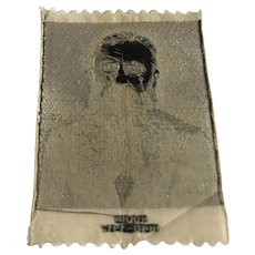 """Vintage woven cigarette and tobacco silk card François Auguste René Rodin from set of 47 World Celebrities & Film Stars  in Holland 1930c 3"""" x 2"""""""