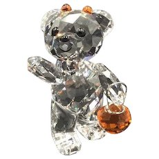 NEW Swarovski Halloween Pumpkin Kris Bear Figurine Limited Edition