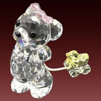 NEW Swarovski It's a Girl Kris Bear Figurine Baby Shower Gift