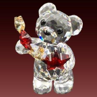 NEW Swarovski Christmas Kris Bear Holding Red Star Figurine