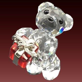 NEW Swarovski A Gift For You Christmas Kris Bear Figurine