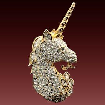 New Swarovski Unicorn Horse Brooch Pin