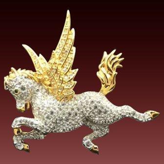 New Swarovski Pegasus Horse Brooch Pin