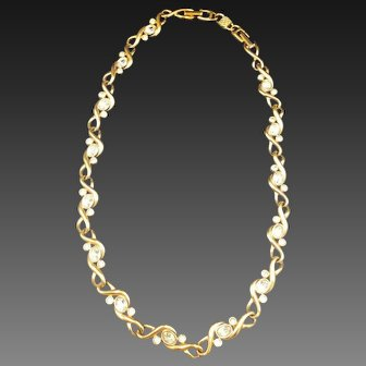 New Swarovski Necklace Crystal Vintage Signature Line with Tag