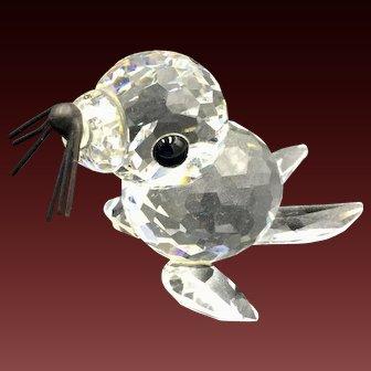 Swarovski Seal Baby Crystal Figurine Vintage, Retired