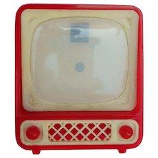 Vintage German miniature Dollhouse Television TV inside pin up girls