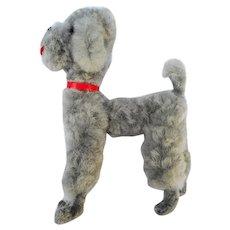 Vintage Austria handmade wool grey DOG Poodle Dollhouse Miniature Doll Size