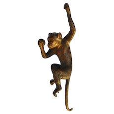 Vintage Austria Rare Vienna Bronze Monkey with Ball