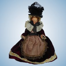 Vintage German Costume Celluloid Doll 7""