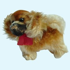 Vintage German bigger Size Mohair STEIFF Peky Dog with all IDs