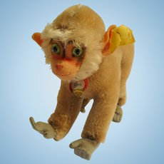 Vintage German bigger Size Mohair STEIFF Coco Monkey with all IDs