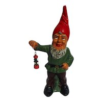 Vintage 1950´s W.German Stoneware Dwarf with lantern